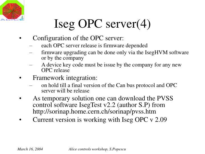 Iseg OPC server(4)