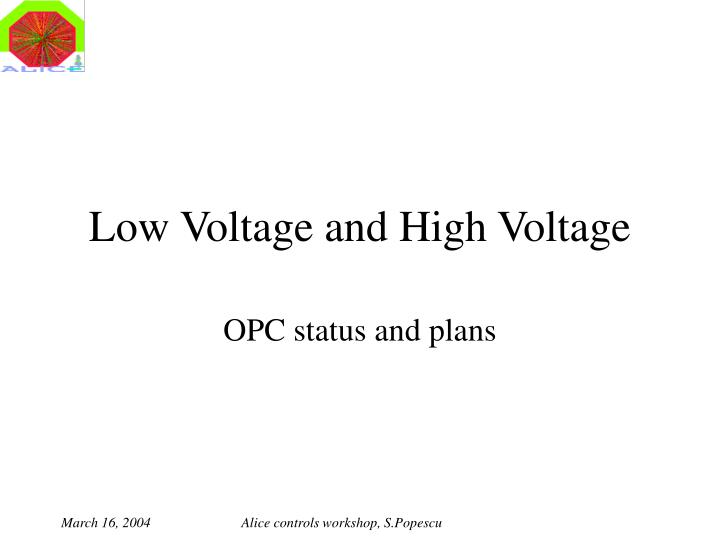 low voltage and high voltage n.