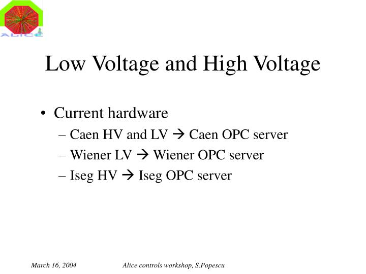 Low voltage and high voltage1