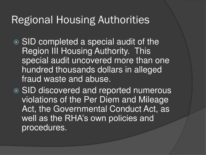 Regional Housing Authorities