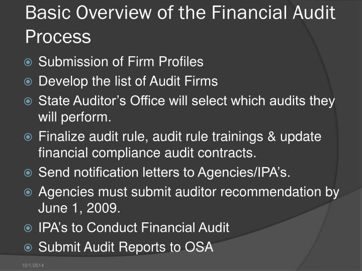 Basic Overview of the Financial Audit Process