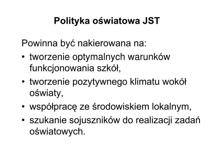 Polityka oświatowa JST