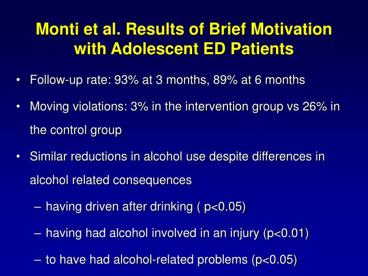 Monti et al. Results of Brief Motivation with Adolescent ED Patients