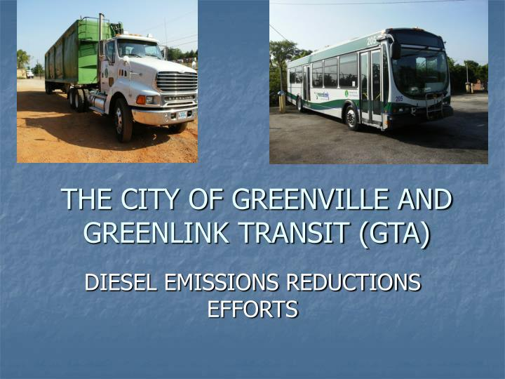 the city of greenville and greenlink transit gta