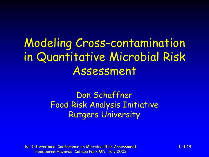 an analysis of cross contamination in yed dishes