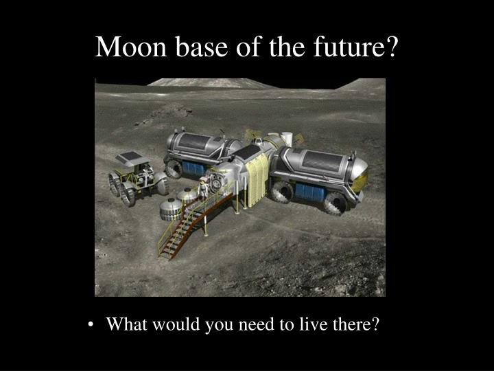 Moon base of the future?