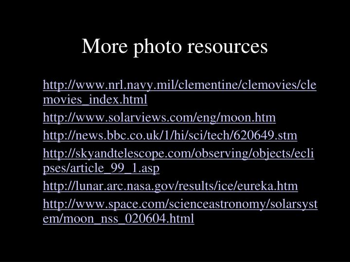 More photo resources