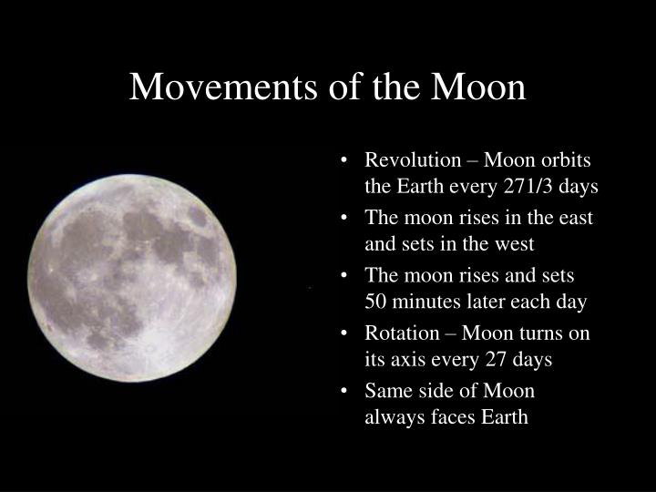 Movements of the Moon