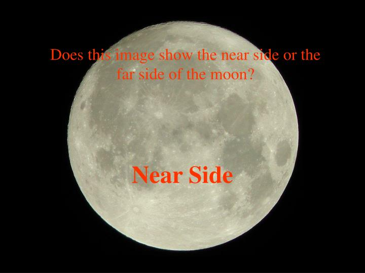 Does this image show the near side or the far side of the moon?