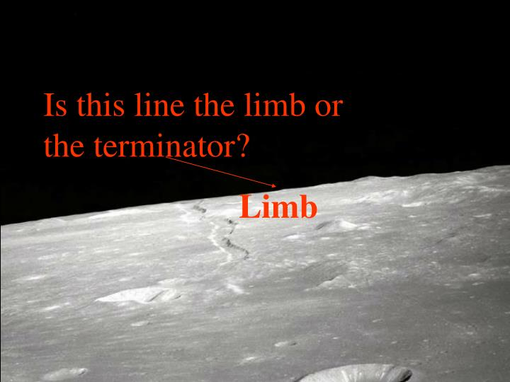Is this line the limb or the terminator?
