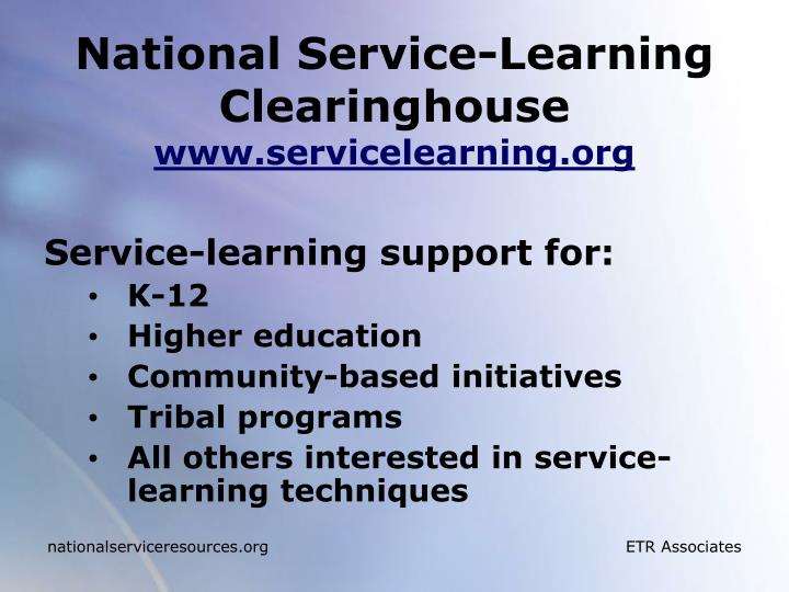 National Service-Learning Clearinghouse