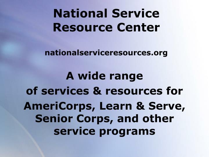 National Service