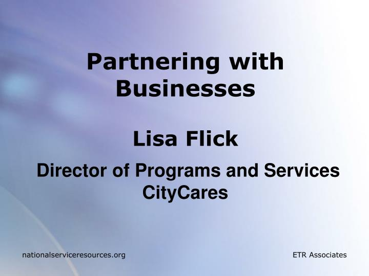 Partnering with Businesses