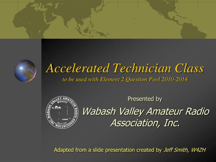 accelerated technician class to be used with element 2 question pool 2010 2014 n.