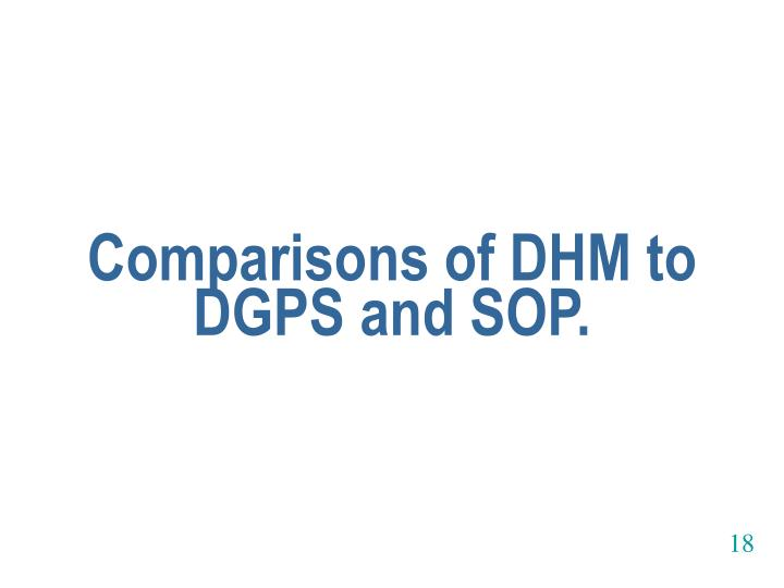 Comparisons of DHM to DGPS and SOP.