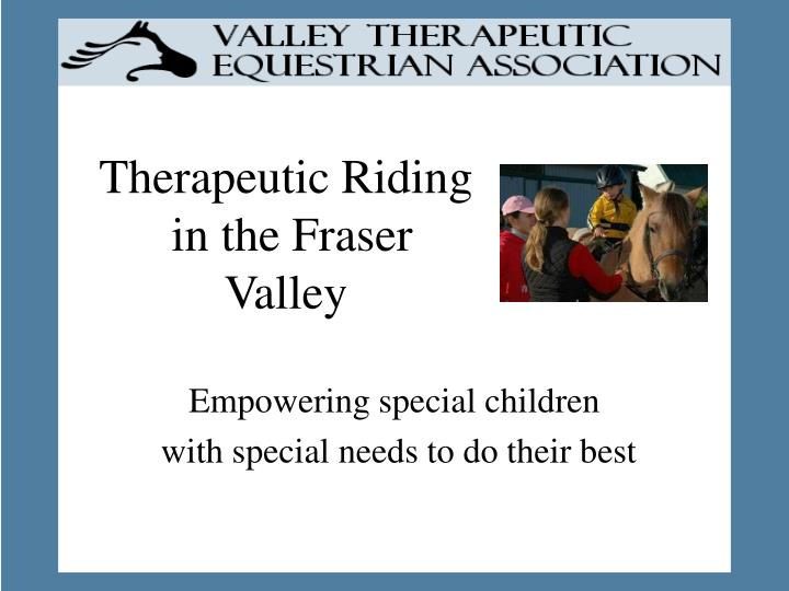 therapeutic riding in the fraser valley n.