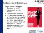 findings social disapproval