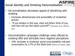 social identity and smoking denormalisation1