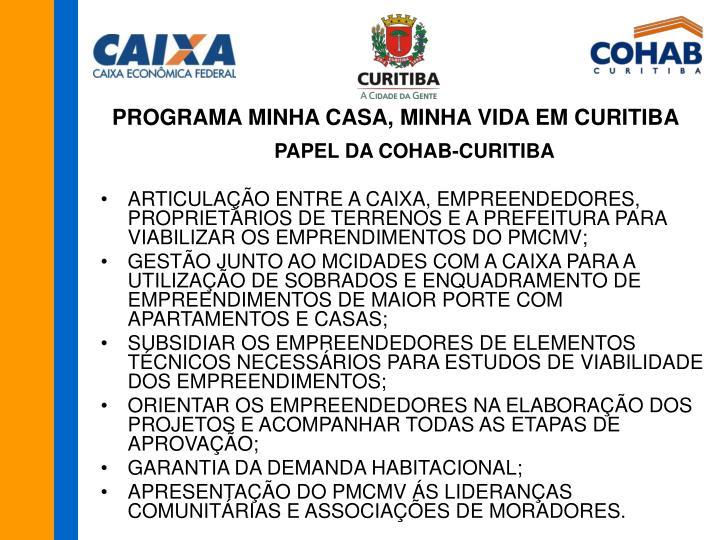 PROGRAMA MINHA CASA, MINHA VIDA EM CURITIBA