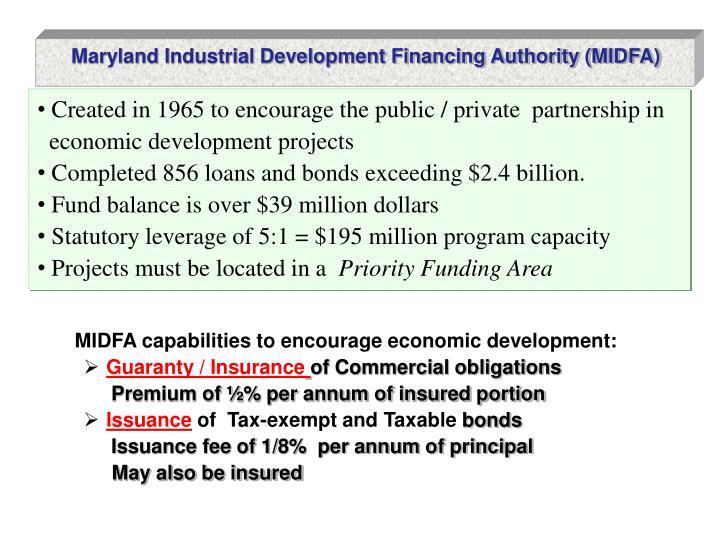 Maryland Industrial Development Financing Authority (MIDFA)