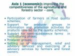 axis 1 economic improving the competitiveness of the agricultural and forestry sector cont