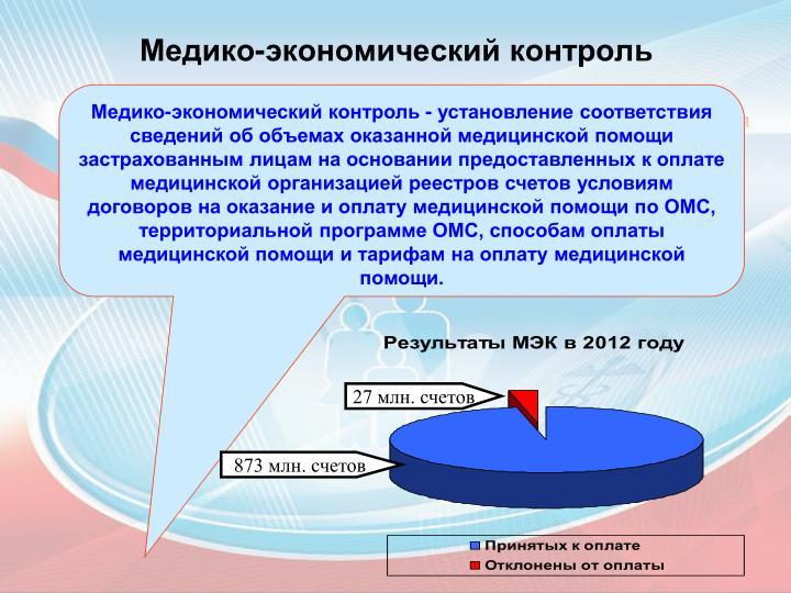Медико-экономический контроль