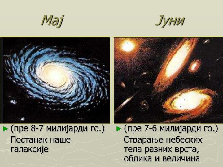 (пре 8-7 милијарди го.)
