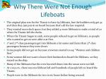 why there were not enough lifeboats