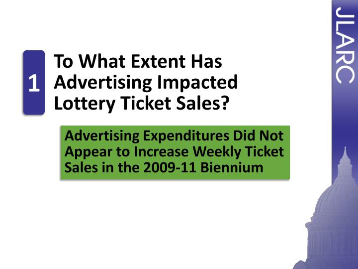 To What Extent Has Advertising Impacted Lottery Ticket Sales?