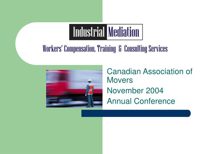 canadian association of movers november 2004 annual conference n.