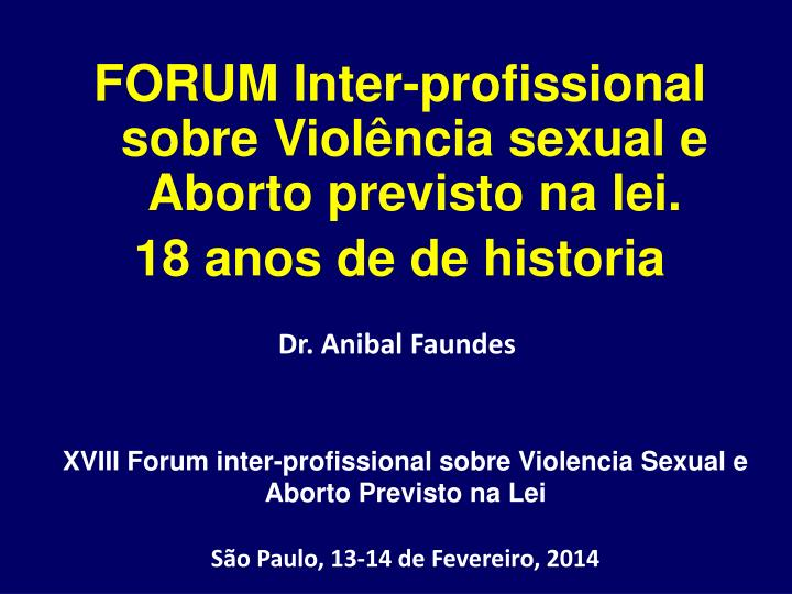 dr anibal faundes n.