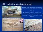 21 marine contamination