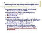 kontrola poradni psychologiczno pedagogicznych