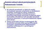 kontrola realizacji zalece powizytacyjnych podsumowanie i wnioski