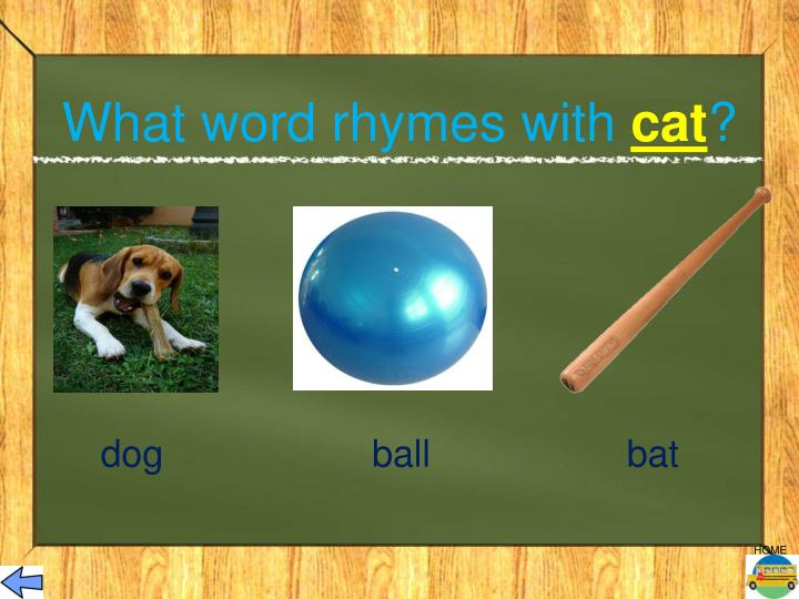 What word rhymes with