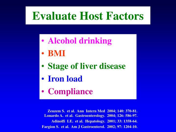 Evaluate Host Factors