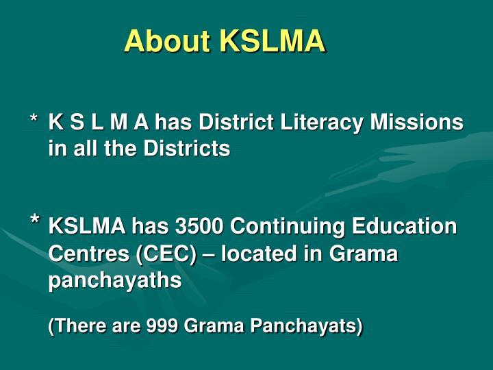 About KSLMA