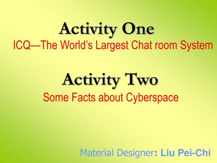 PPT - Activity One PowerPoint Presentation - ID:5009132