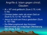 angriffe d islam gegen christl glauben