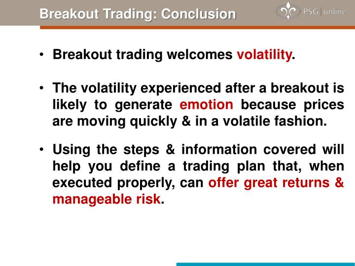 Breakout Trading: Conclusion