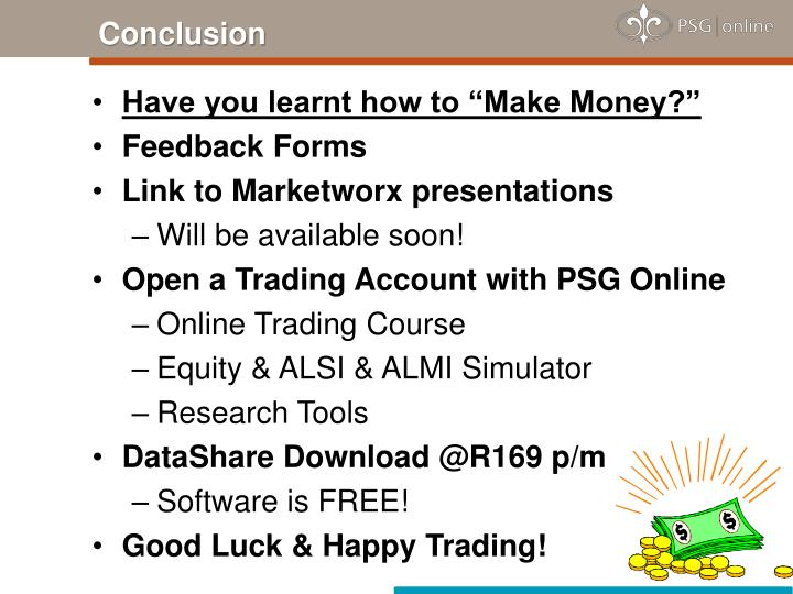 "Have you learnt how to ""Make Money?"""