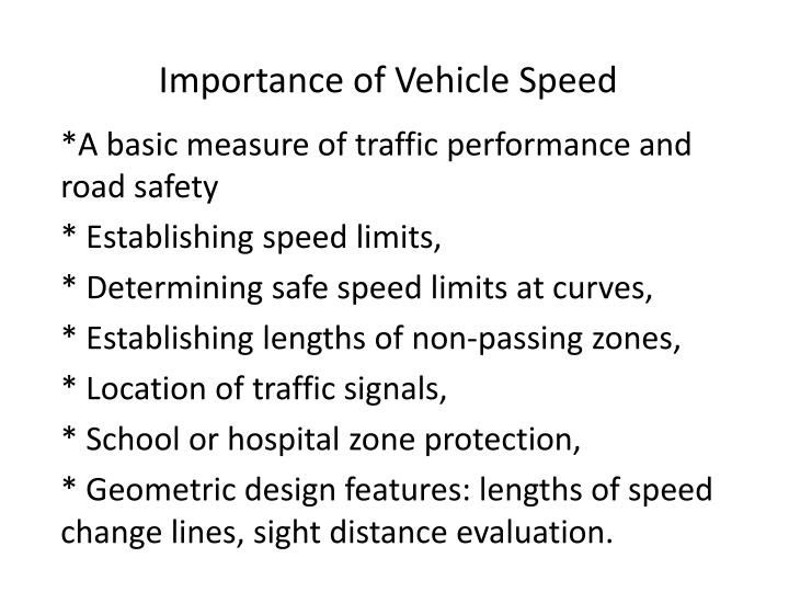 the importance of speed limits