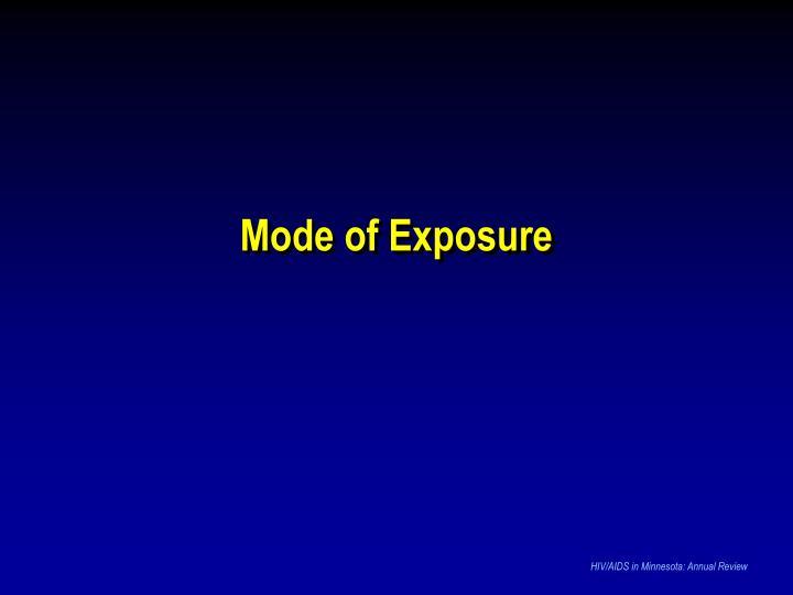 Mode of Exposure