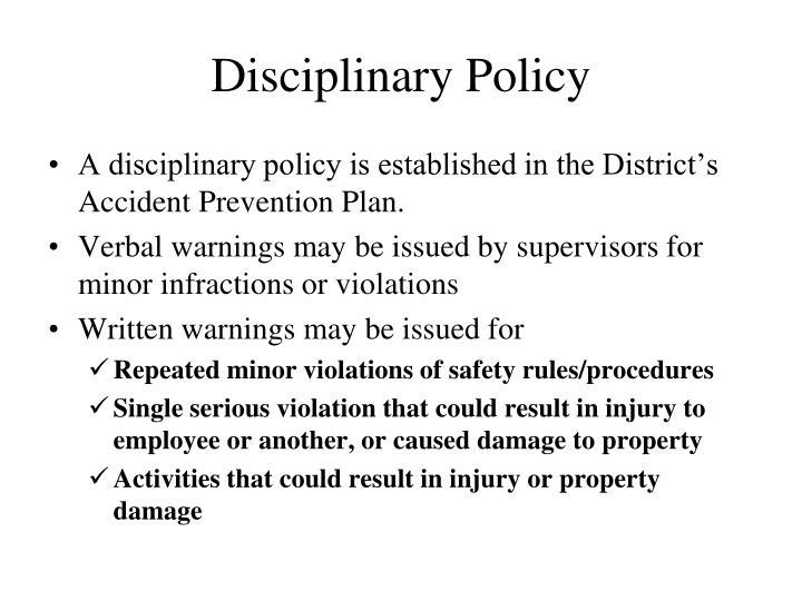 Disciplinary Policy