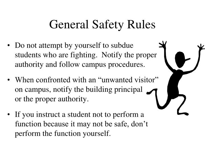 General Safety Rules