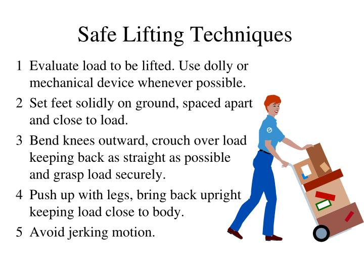 Safe Lifting Techniques