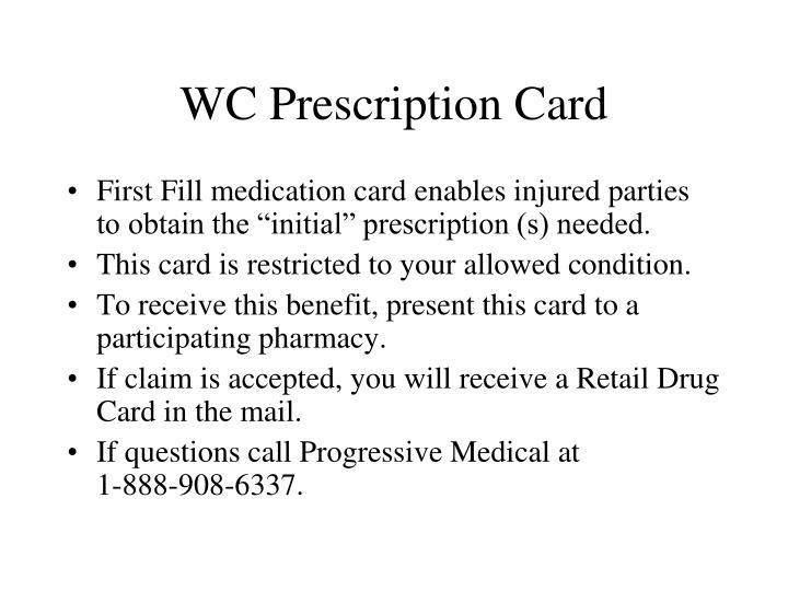 WC Prescription Card