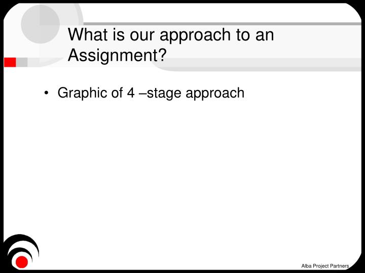 What is our approach to an Assignment?