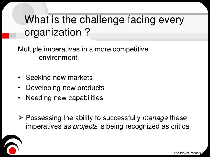 What is the challenge facing every organization