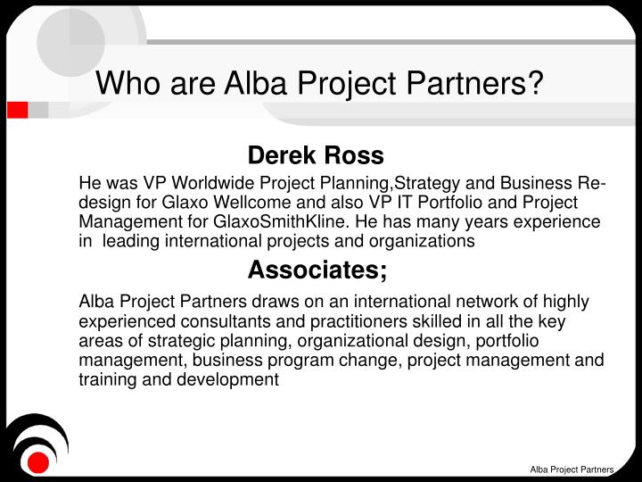 Who are Alba Project Partners?